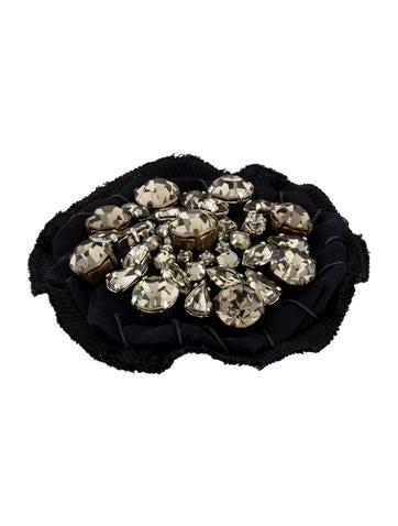 Round Crystal Brooch