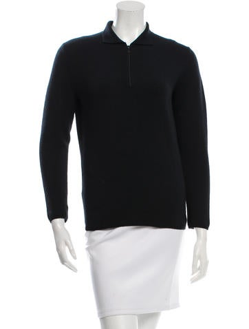 Prada Long Sleeve Polo Top None