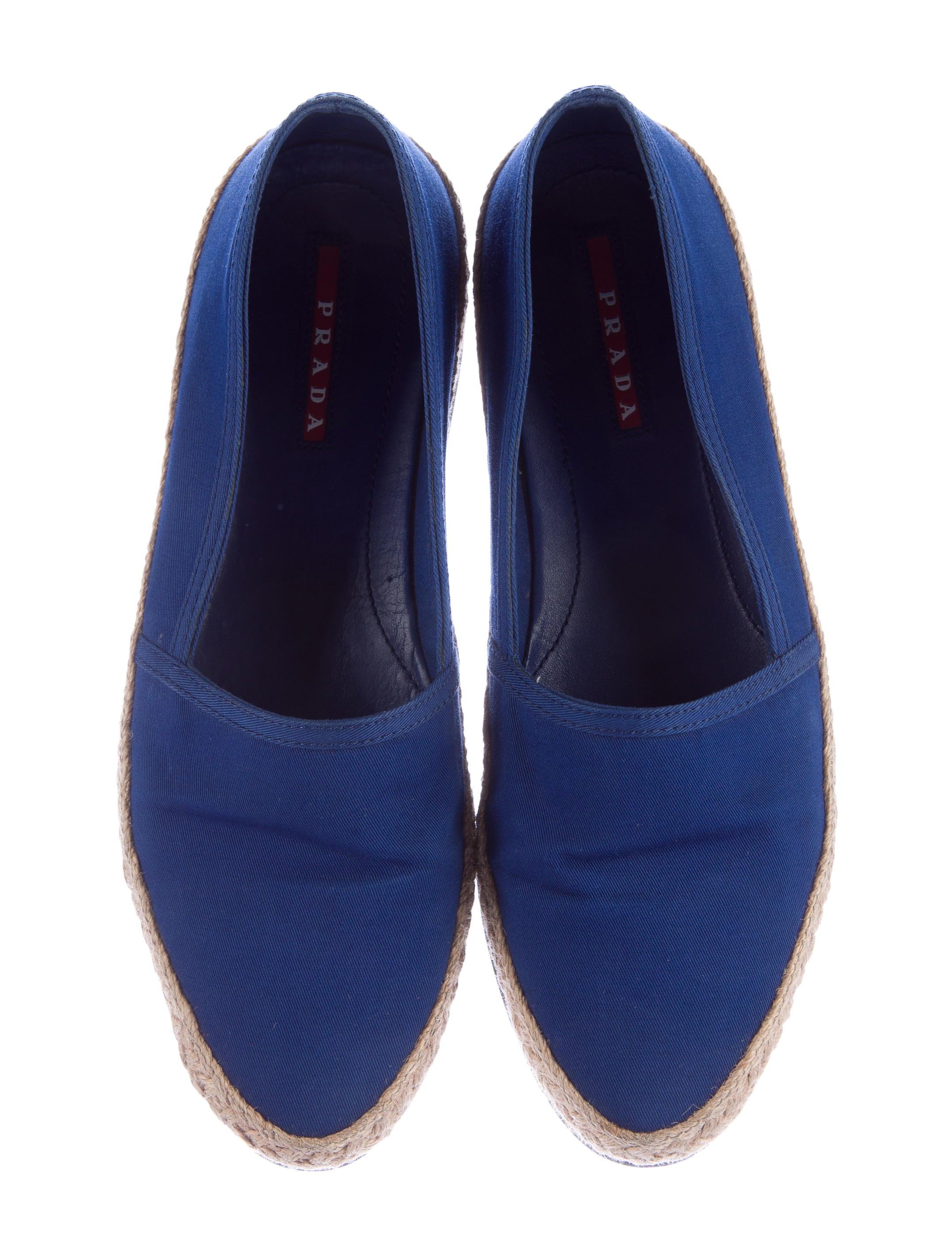 prada canvas espadrille flats shoes pra110516 the