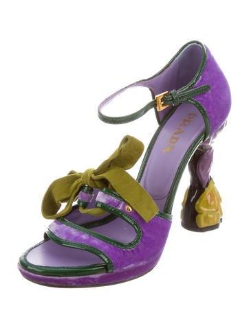 Velvet Sculpted Sandals