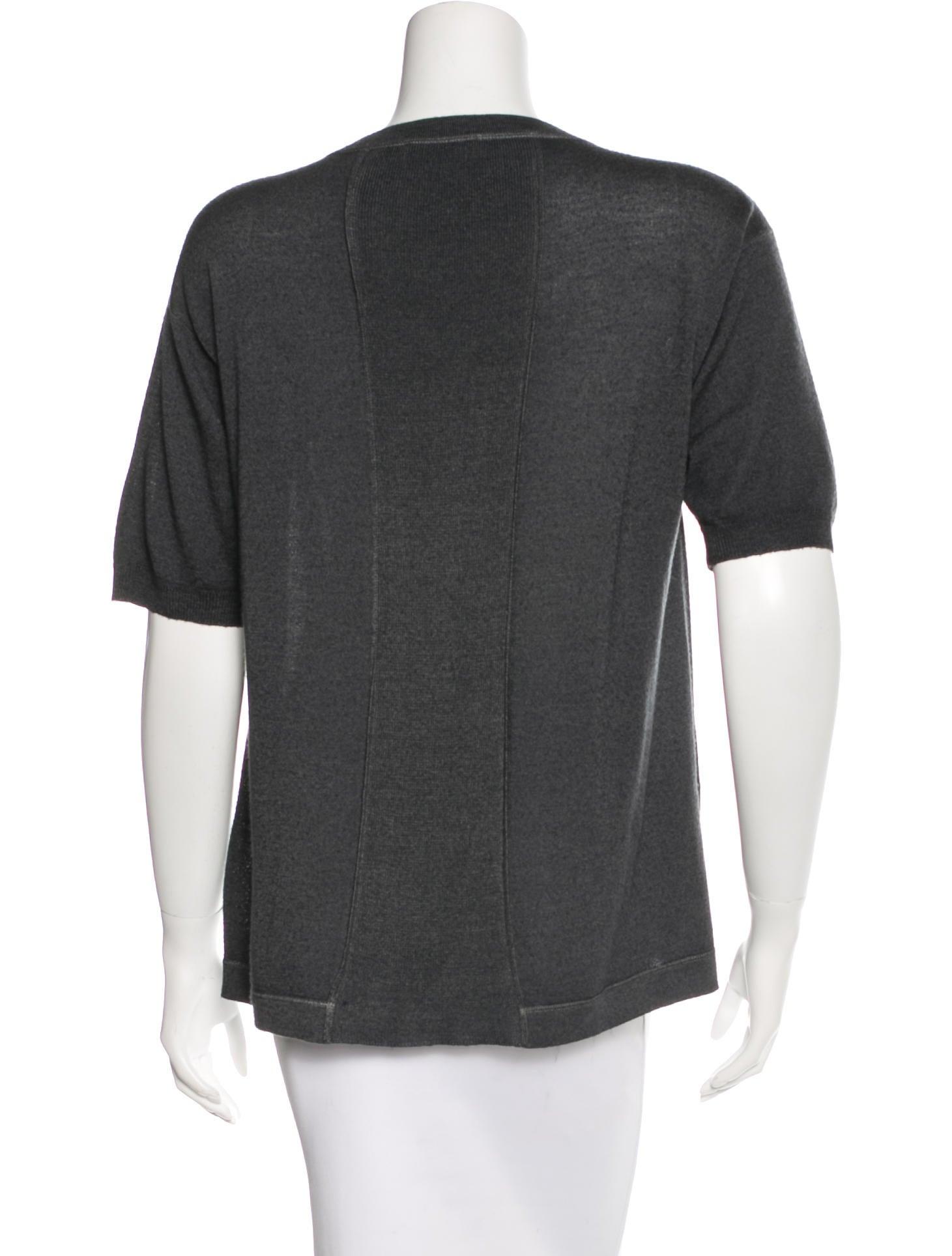 Prada wool short sleeve top clothing pra111010 the for Best wool shirt jackets