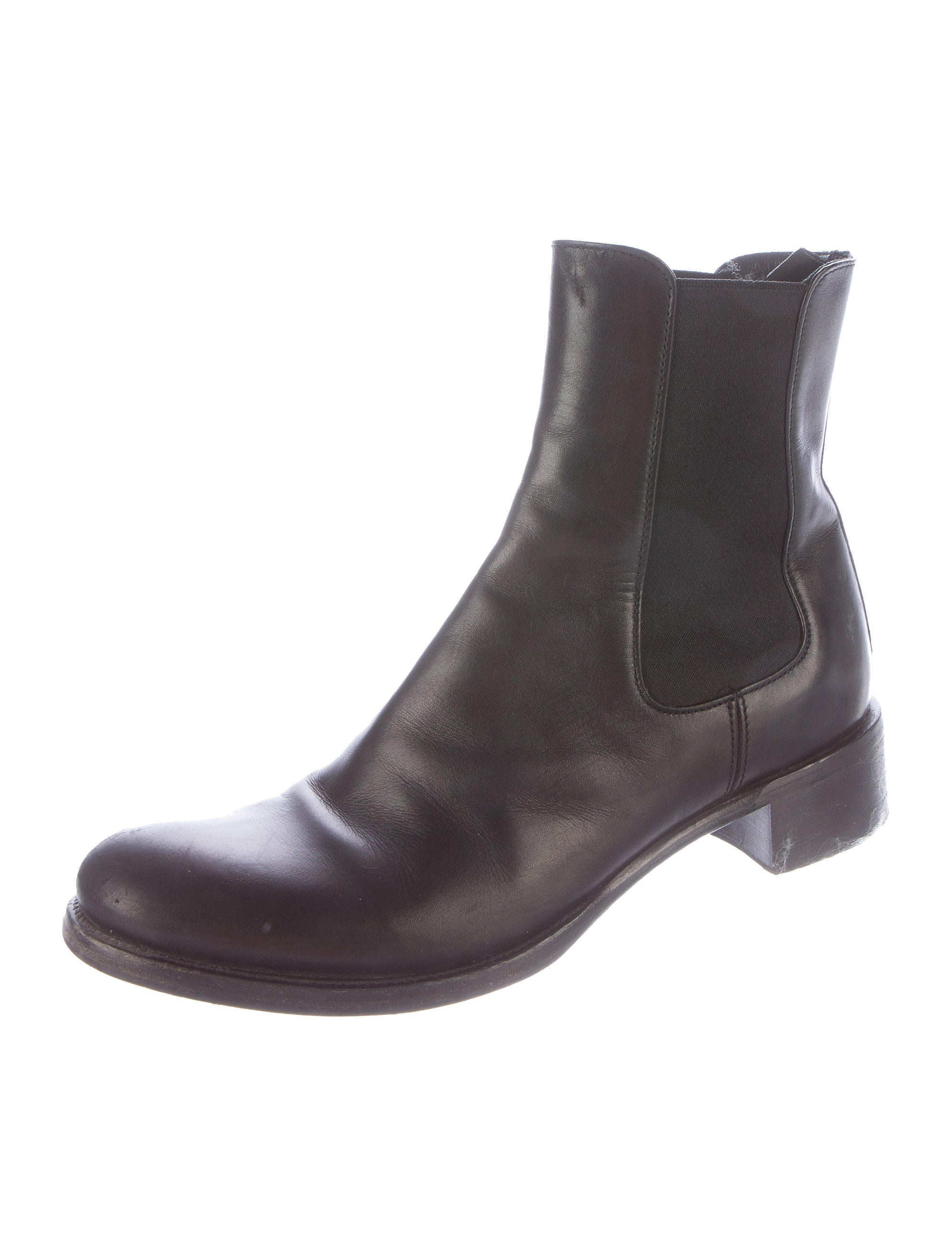 prada leather chelsea ankle boots shoes pra111032