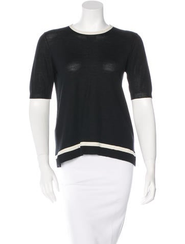 Prada Wool Two-Tone Top None
