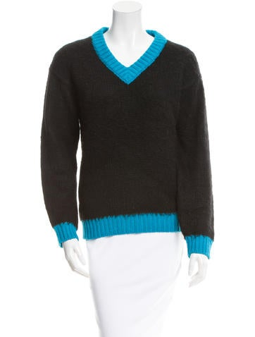 Prada Alpaca Colorblock Sweater None