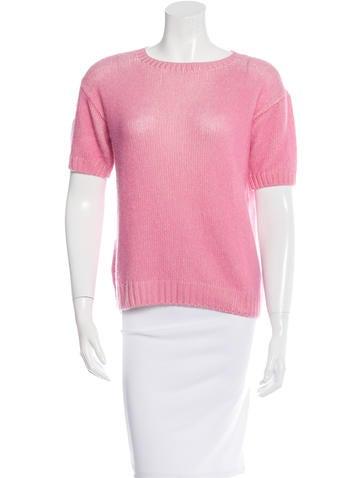 Prada Rib Knit Short Sleeve Sweater None