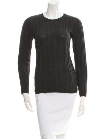 Prada Long-Sleeve Wool Top None