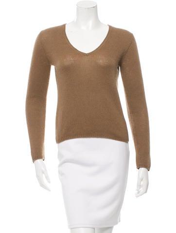 Prada Cashmere V-Neck Sweater None
