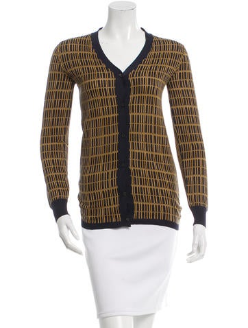 Prada Patterned Silk Cardigan None