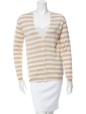 Prada Striped Wool Cardigan None