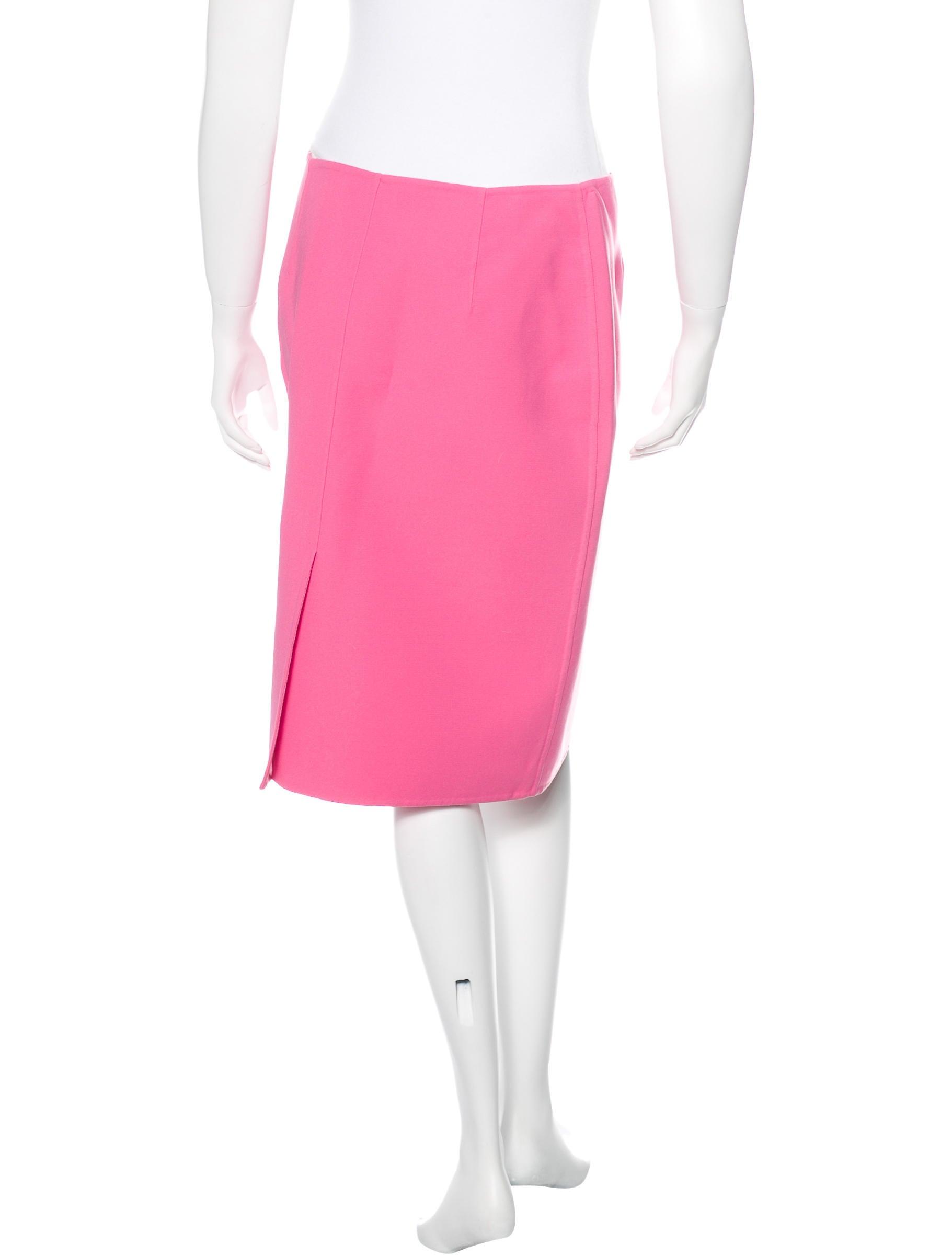 prada a line knee length skirt clothing pra111924