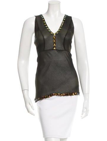 Prada Embellished Silk Top None
