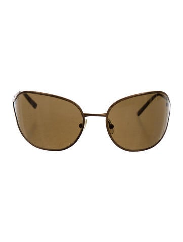 Prada Logo-Embellished Tinted Sunglasses None