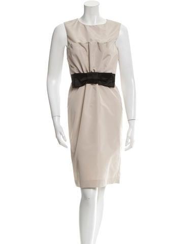 Prada Bow-Accented Sheath Dress