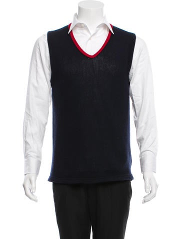 Prada Wool V-Neck Vest None