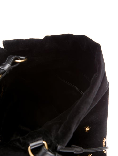 Prada Astrology-Embellished Large Drawstring Hobo - Handbags ... 85b17748b014b