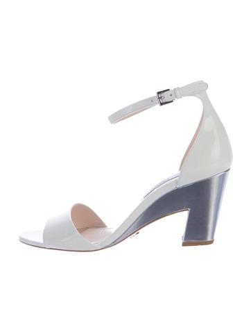 Prada Patent Ankle Strap Sandals None