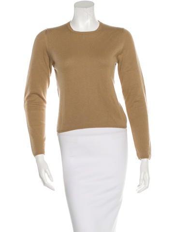 Prada Cashmere Leather-Trimmed Sweater None