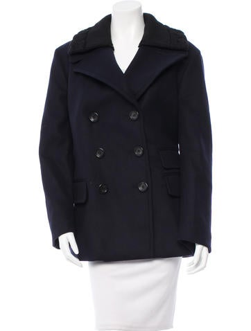 Prada Wool Double-Breasted Jacket w/ Tags None