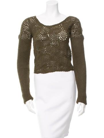 Prada Alpaca Crochet Long Sleeve Top w/ Tags None