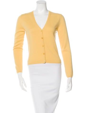 Prada Button-Up Cashmere Cardigan None