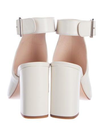 Peep-Toe Leather Booties