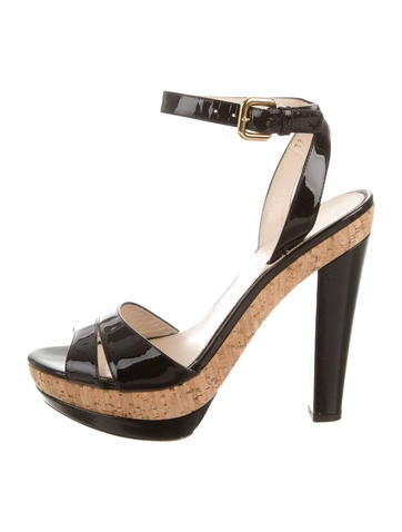 Prada Platform Ankle-Strap Sandals None