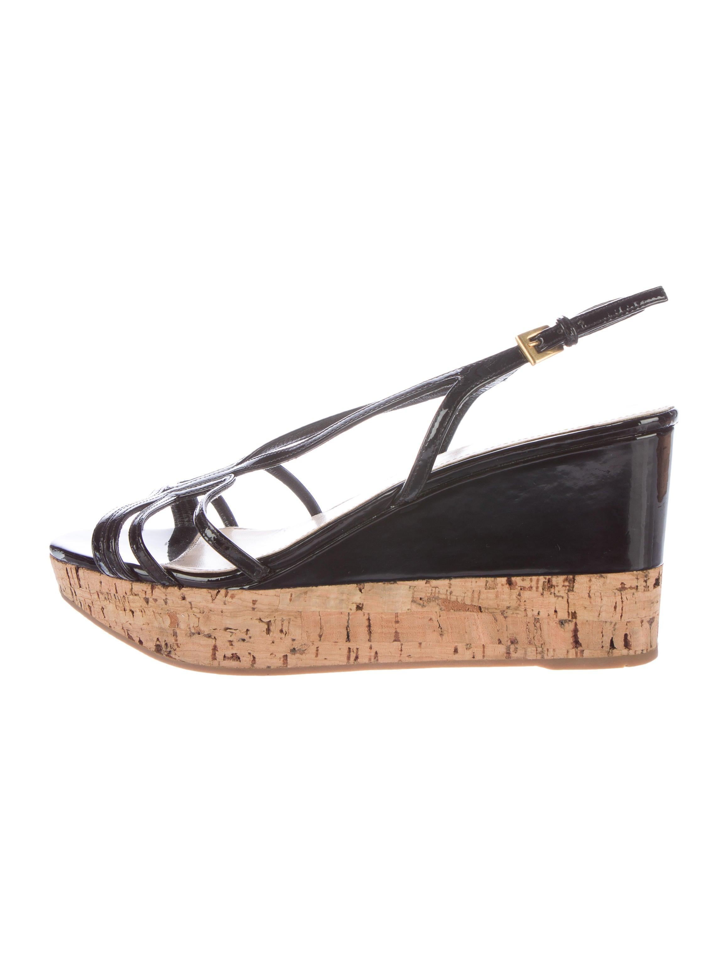 d5288e597 Prada Black Patent Sandals