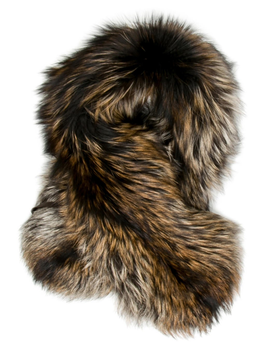 fox fur stole - Brown Prada ETsWaNT