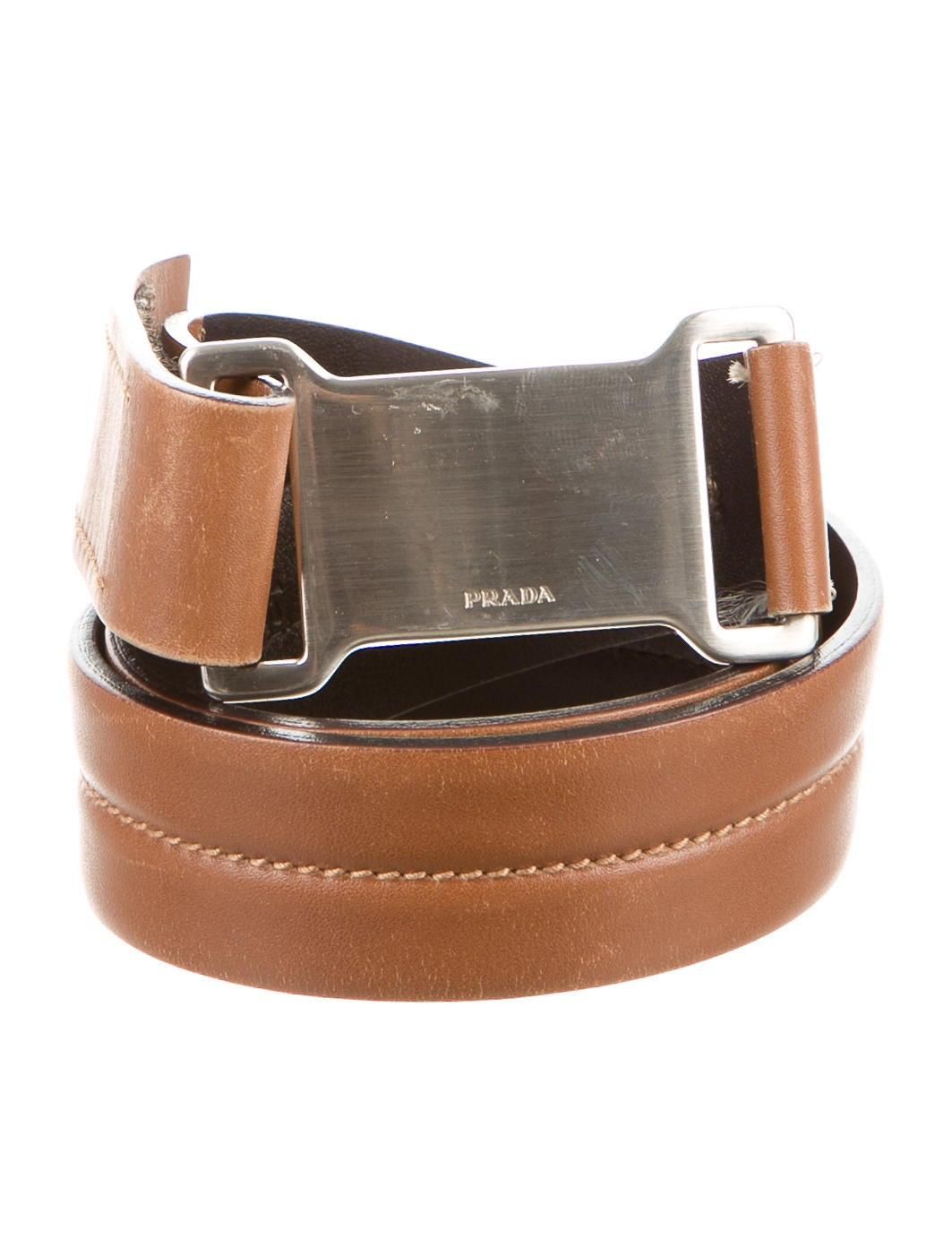 prada leather buckle belt accessories pra115860 the