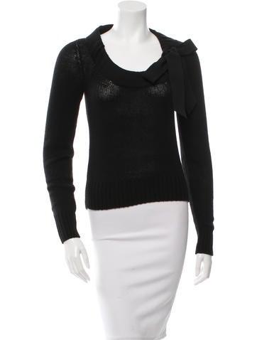 Prada Scoop Neck Long Sleeve Sweater None