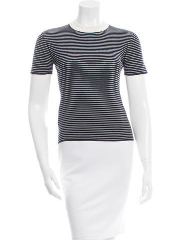Prada Striped Silk Top None