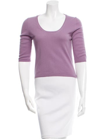 Prada Cropped Scoop Neck Sweater None