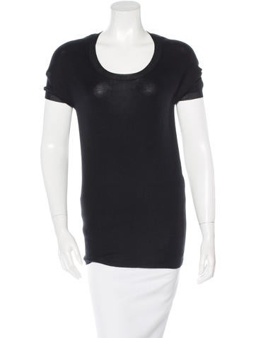 Prada Cashmere & Silk Blend Knit Top None