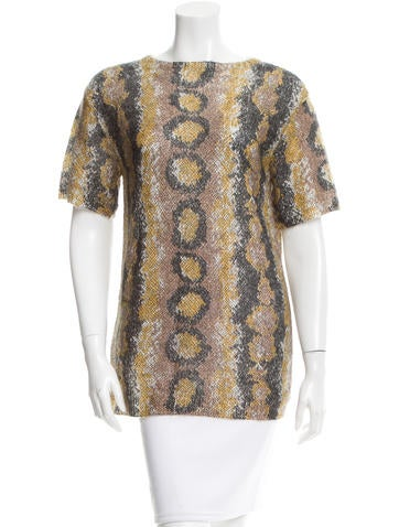 Prada Snake Printed Mohair Top w/ Tags None