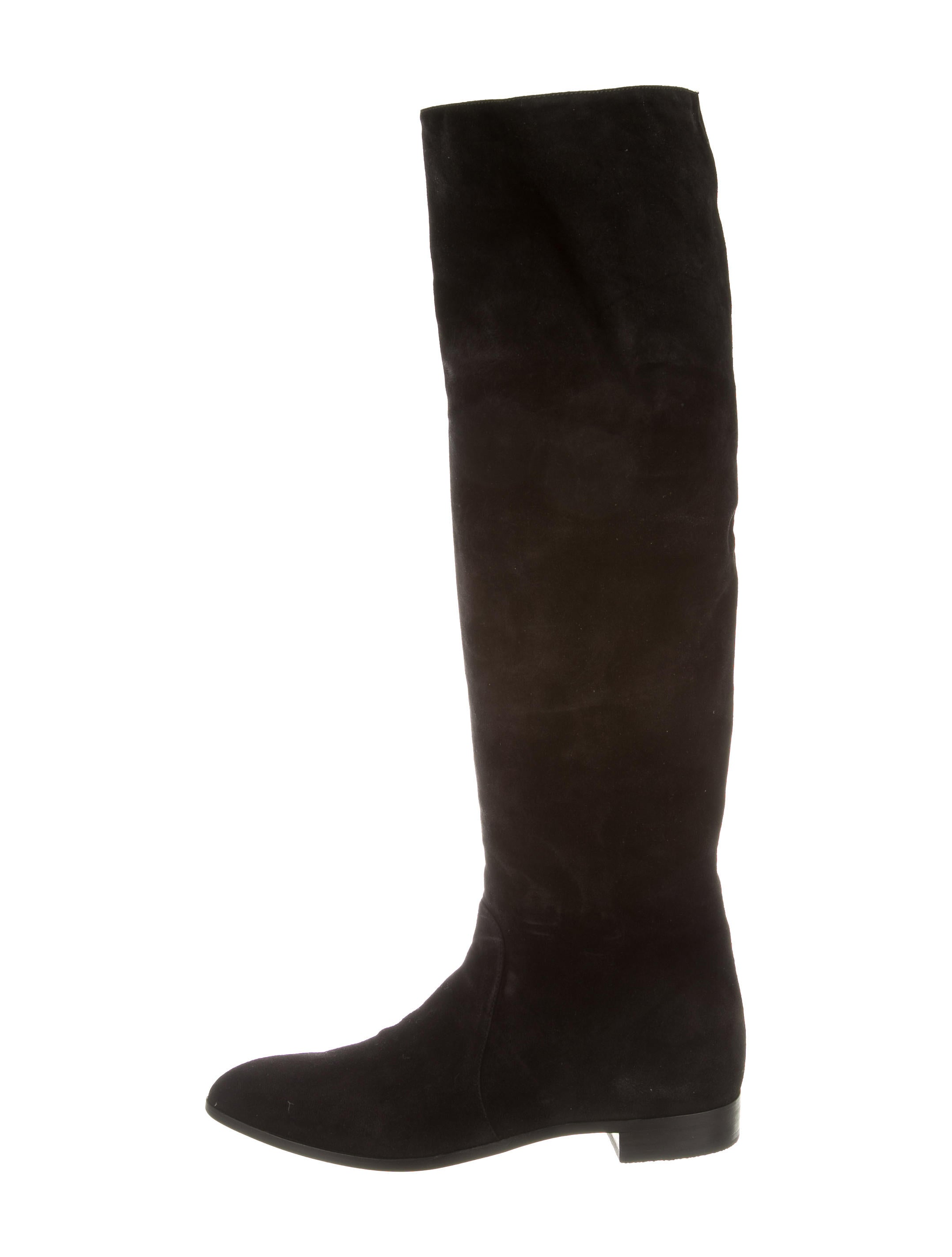 prada suede the knee boots shoes pra116497 the