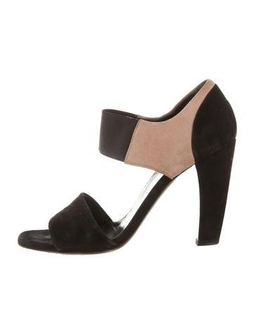 Prada Suede Bicolor Sandals None