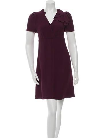 Prada Ruffle-Trimmed Sheath Dress None