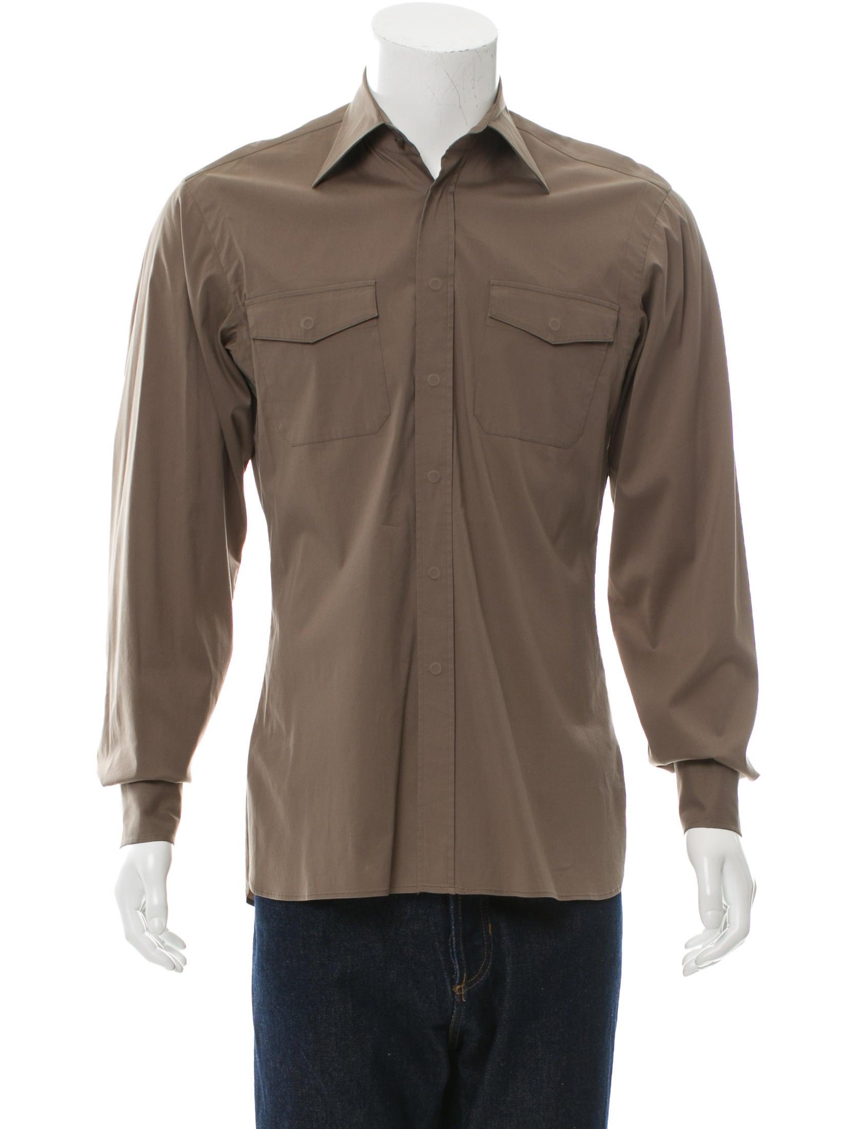 Prada Long Sleeve Button Up Shirt Clothing Pra116579