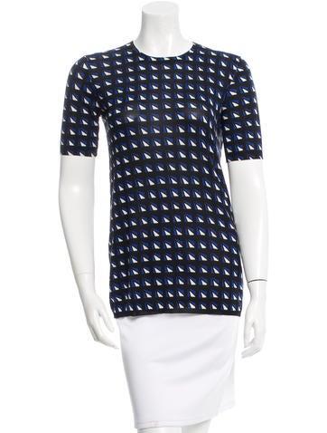 Prada Printed Knit Top None