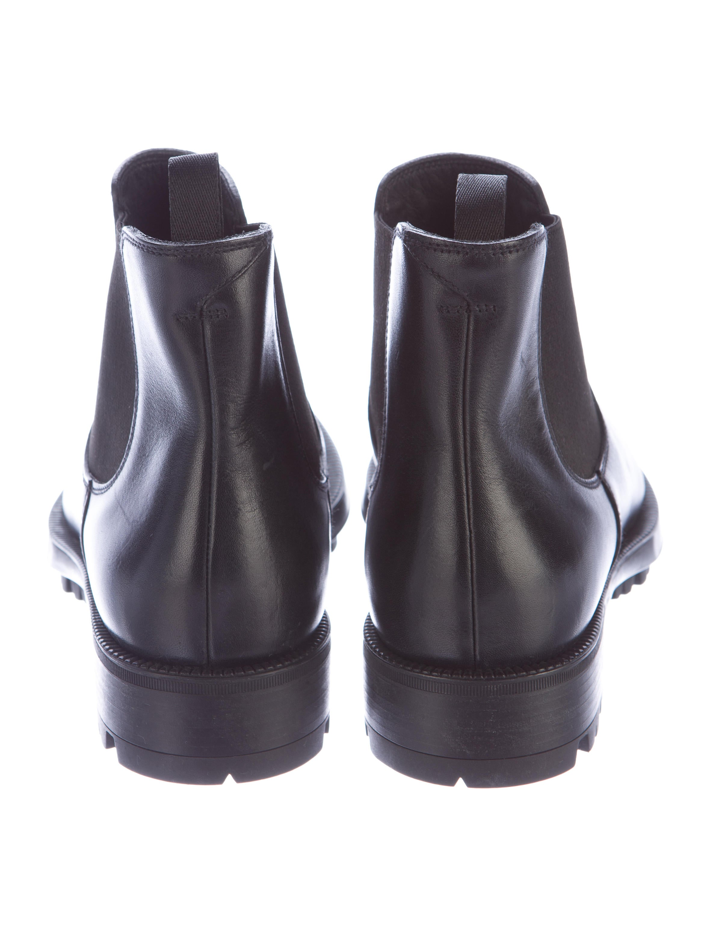 prada leather chelsea ankle boots shoes pra117089