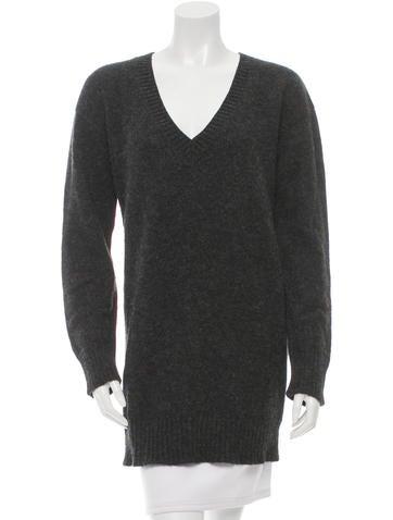 Prada Rib Knit V-Neck Tunic None