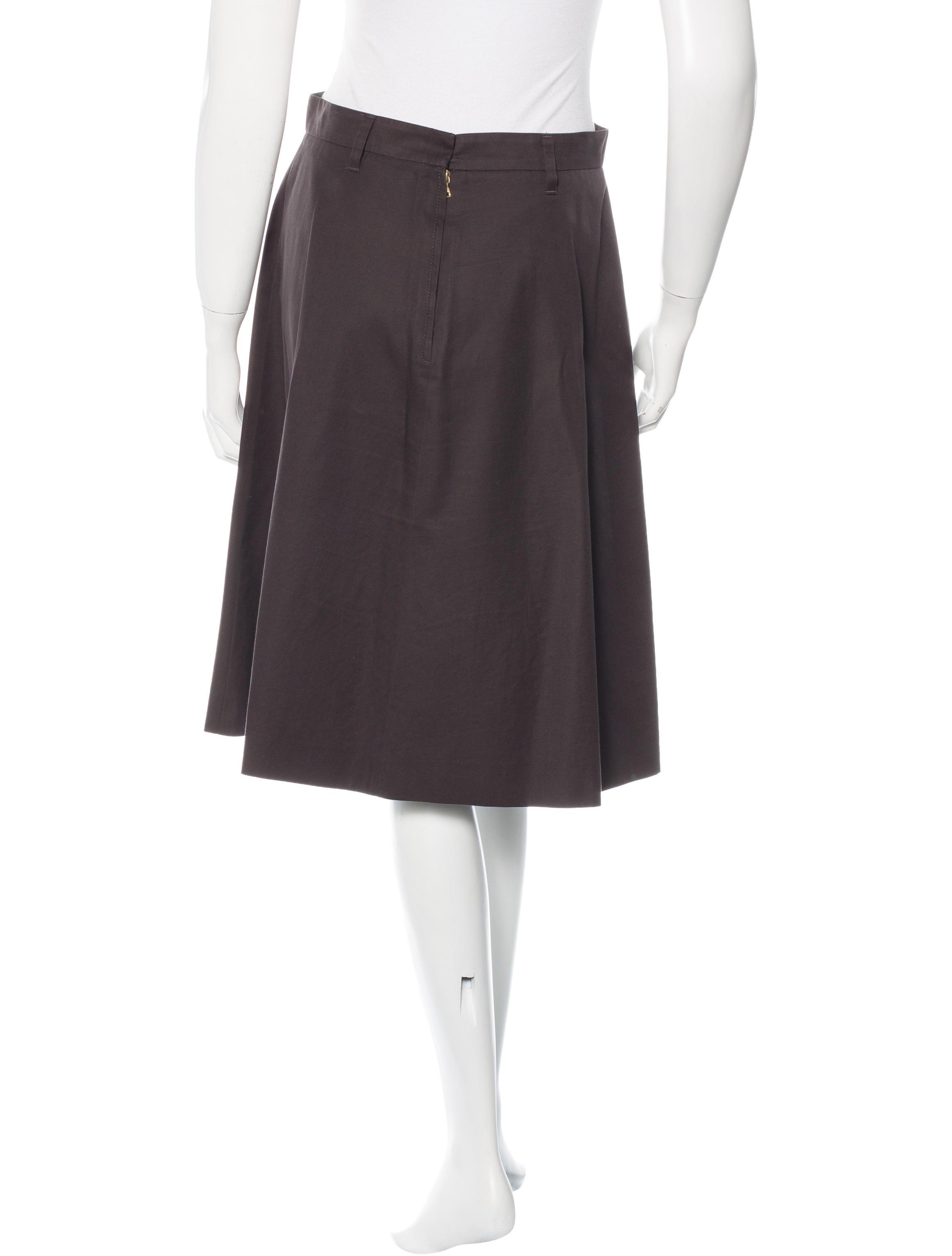 prada knee length a line skirt clothing pra117820