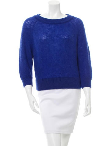 Prada Mohair-Blend Cropped Sweater None