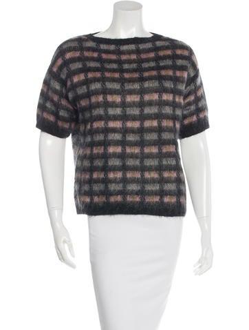 Prada Mohair Short Sleeve Sweater None