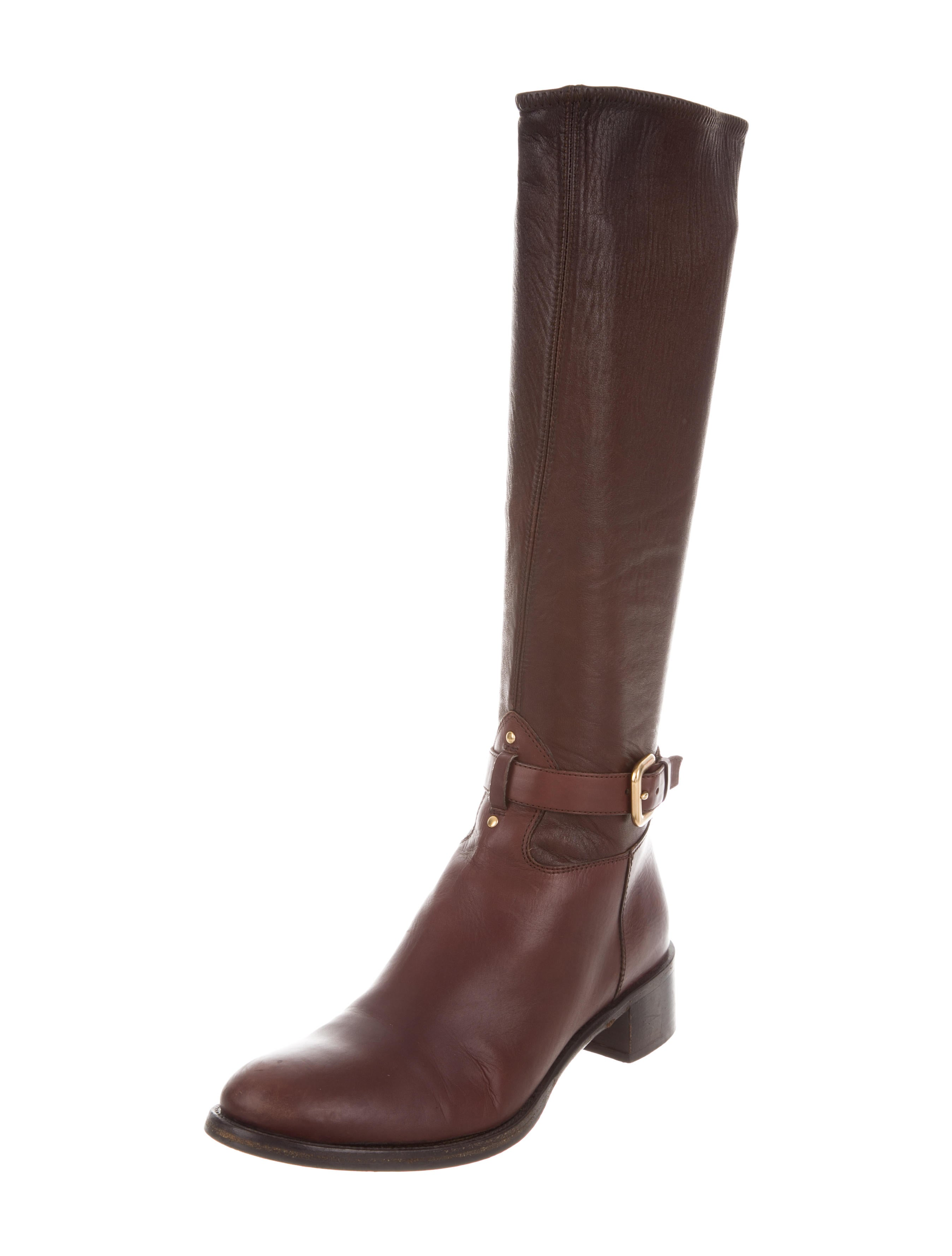 prada leather knee high boots shoes pra118411 the
