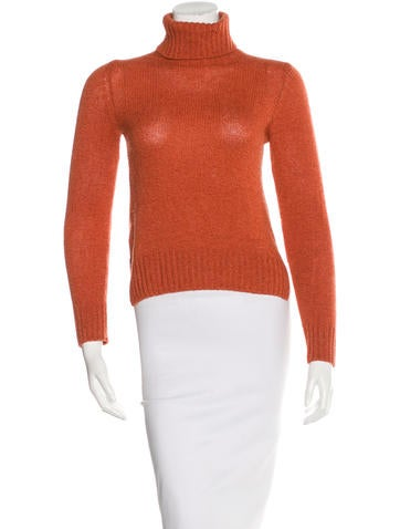 Prada Cashmere Suede-Trimmed Sweater None