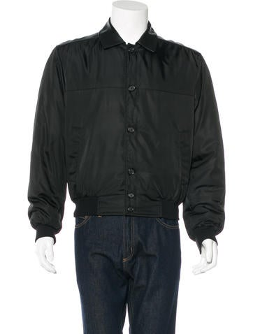 Prada Leather-Trimmed Tessuto Jacket None