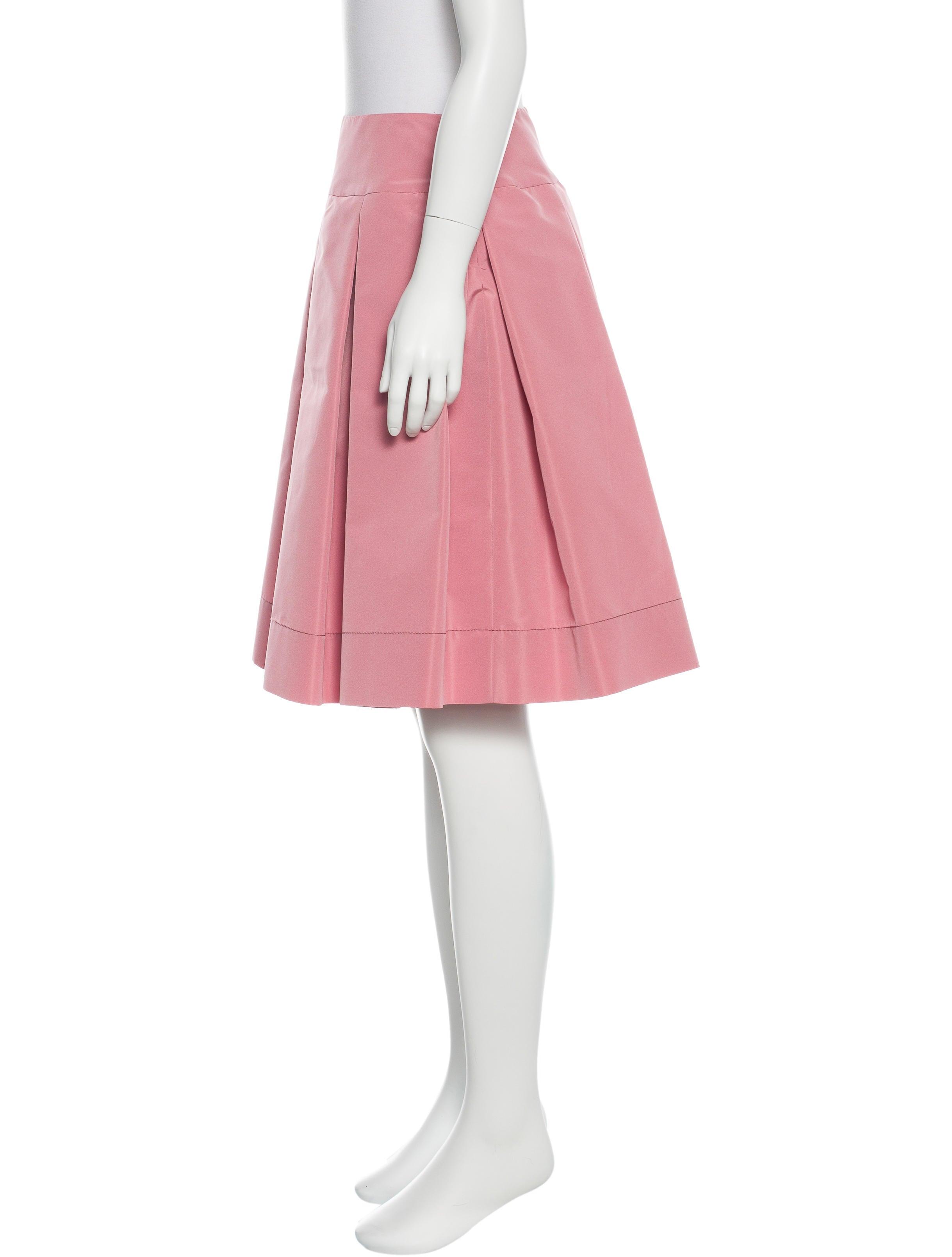 prada pleated a line skirt clothing pra118914 the