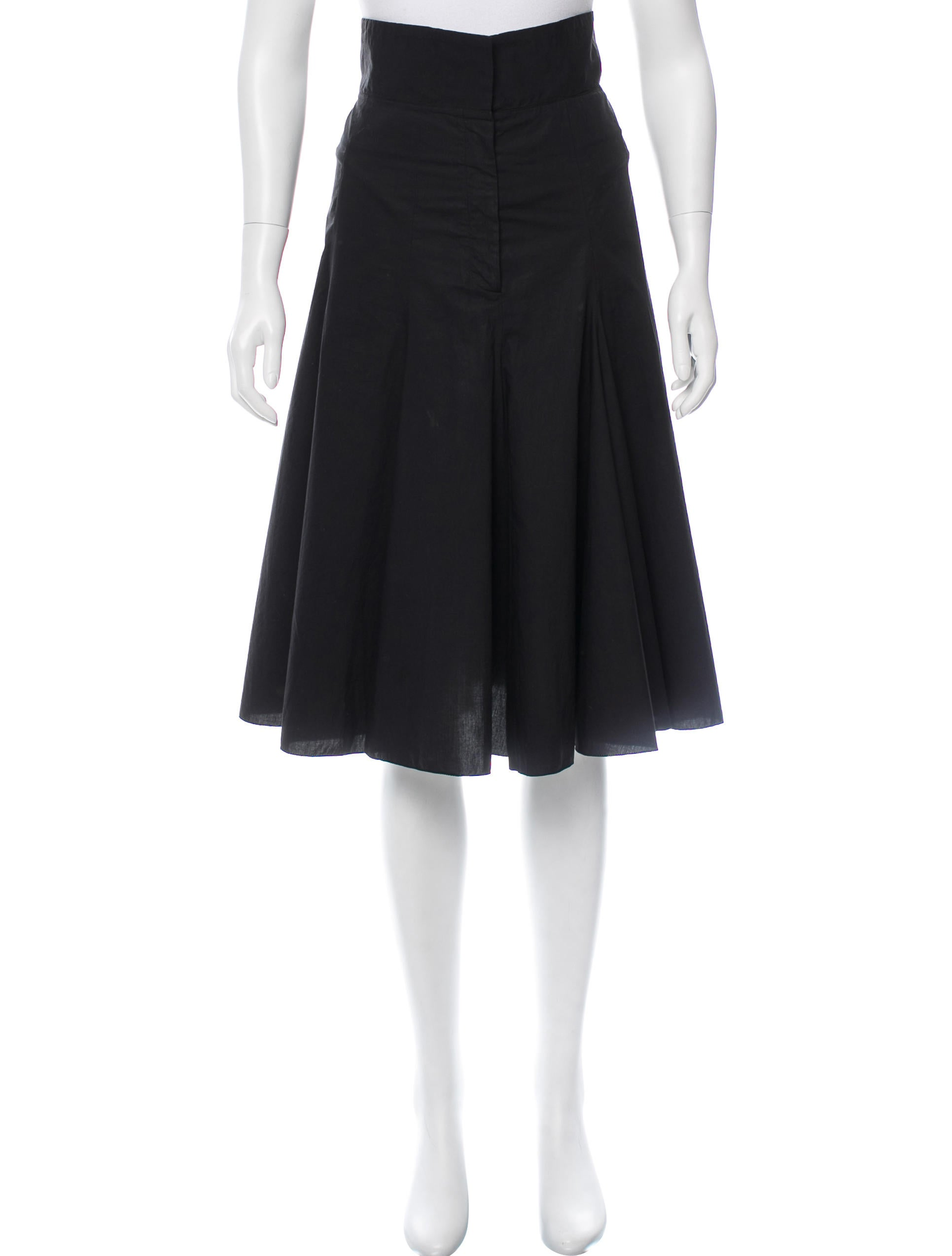 prada flared knee length skirt clothing pra119041