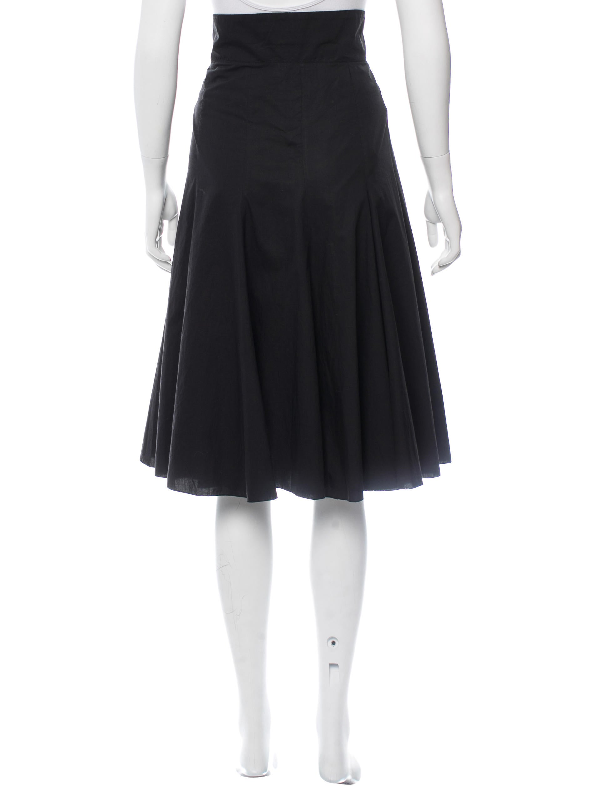 prada flared knee length skirt clothing pra119041